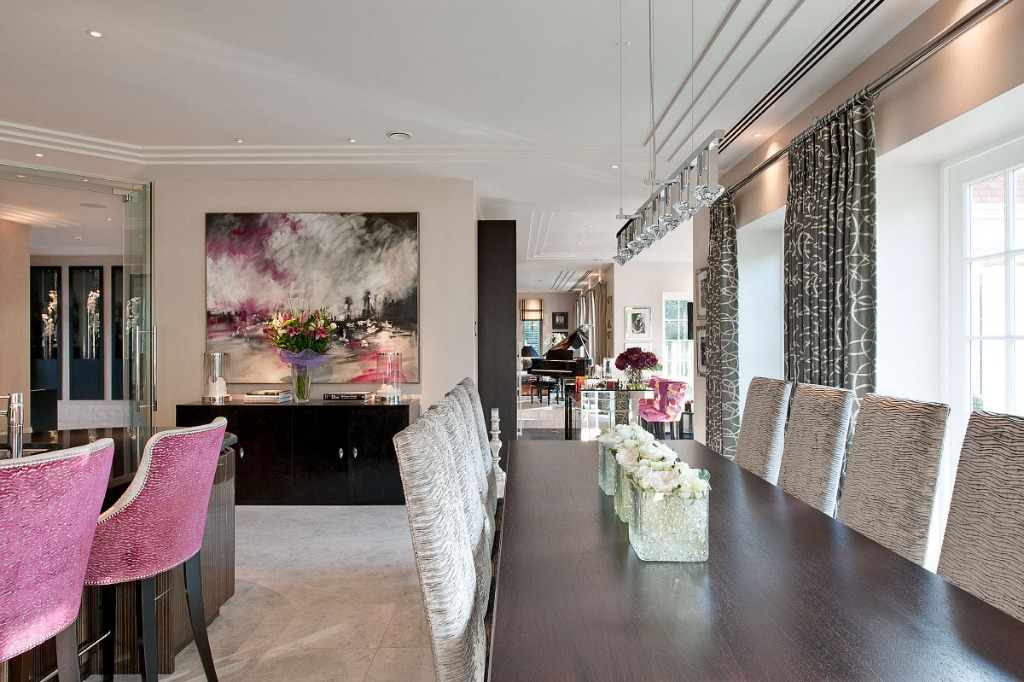 Dining Room Pink Luxury